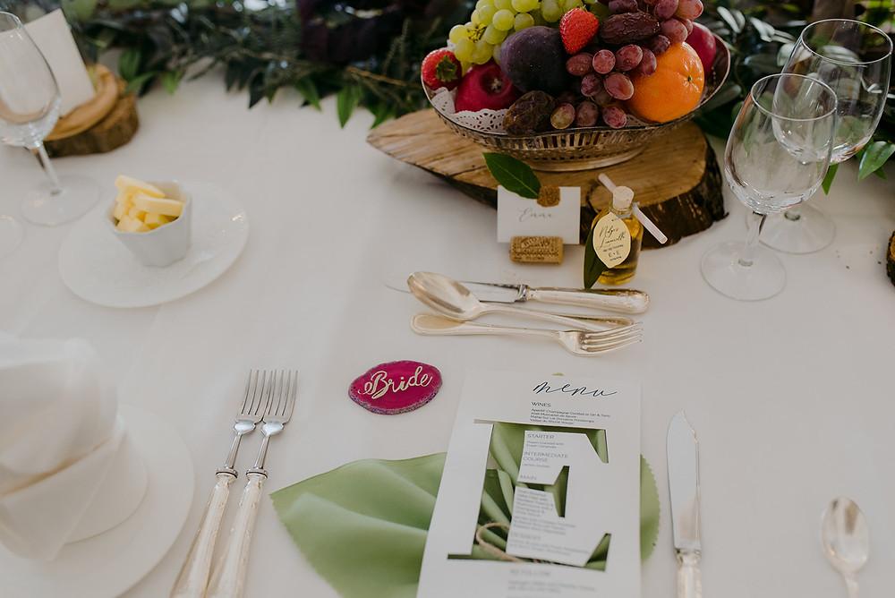 table decor for wedding colour british