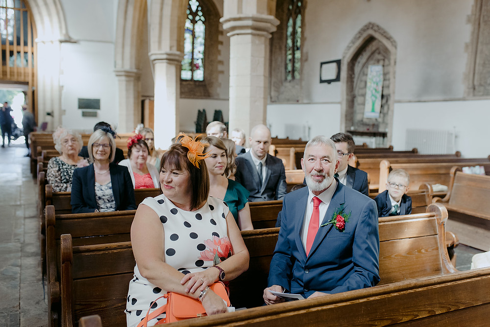 guests inside st peters church in brackley