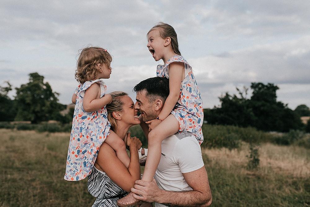 Outdoor family photoshoot buckinghamshire