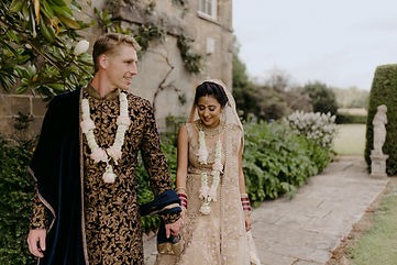 indian wedding in english country garden photography