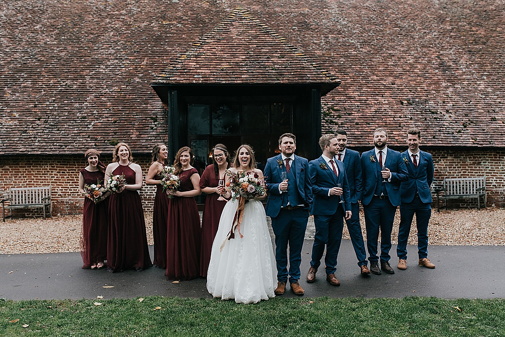 group shot with bridal party