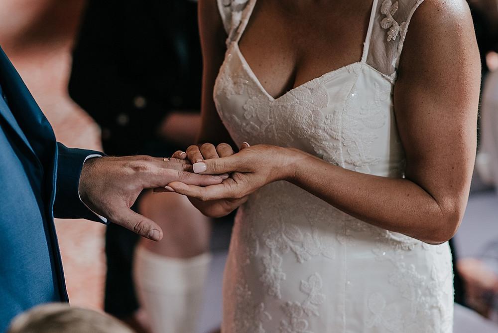 close up hands at wedding