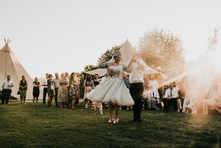 Laid back Festival Wedding with Tipis