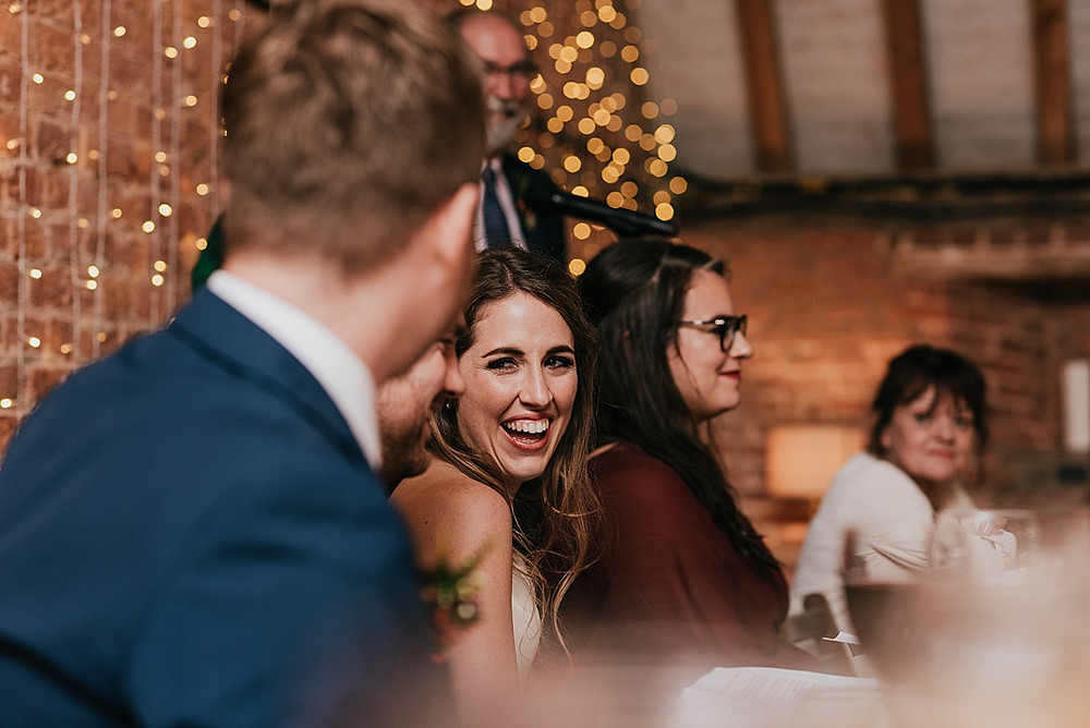bride laughing speeches