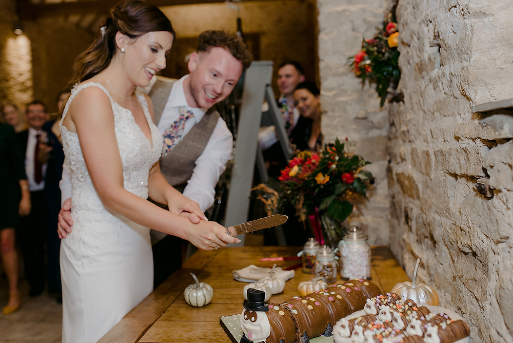 colin the caterpillar as wedding cake