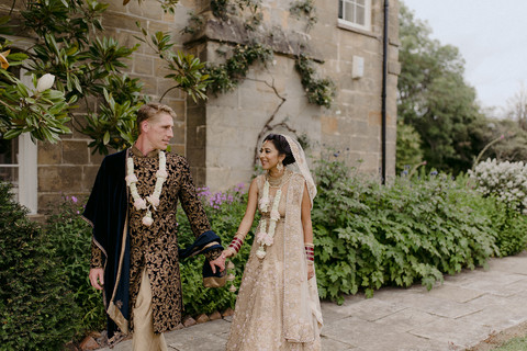 Indian Wedding in English Country Garden
