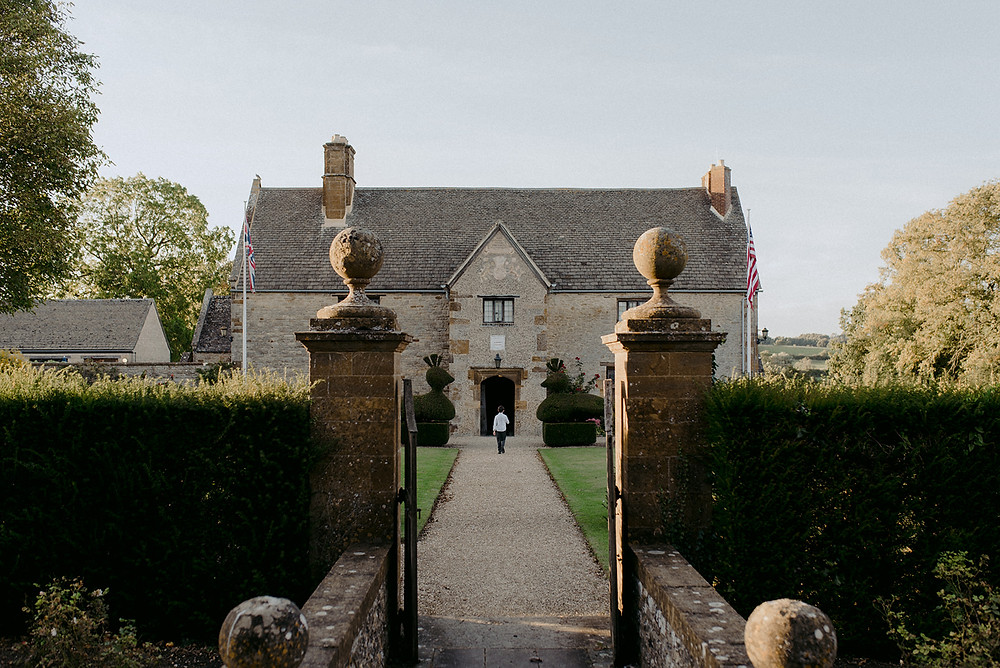 wide shot of sulgrave manor