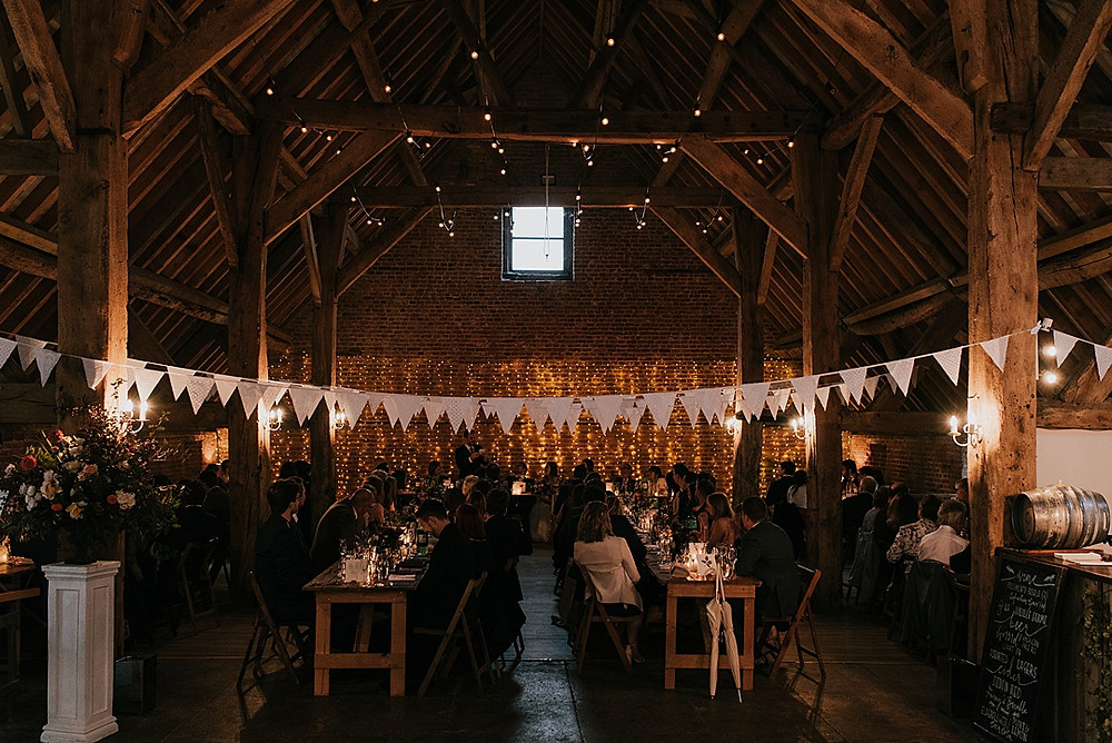 cosy and intimate barn wedding in wiltshire