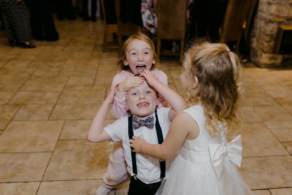 wedding children having fun
