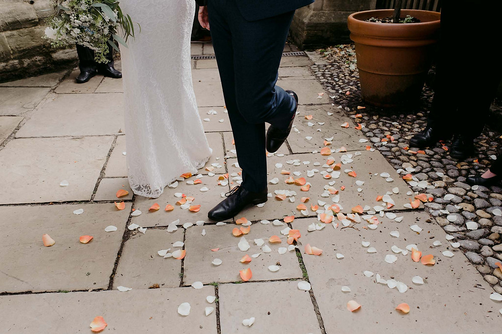 photo of confetti on floor