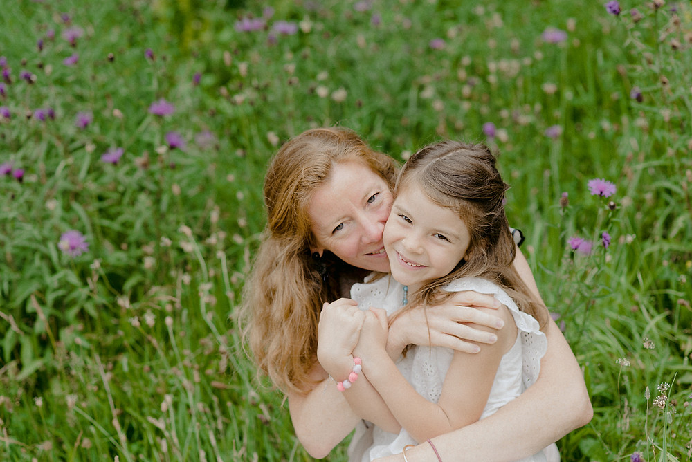 outdoor mother and daughter lifestyle photoshoot