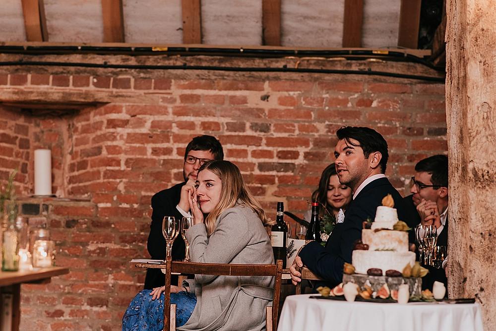 guests crying at wedding