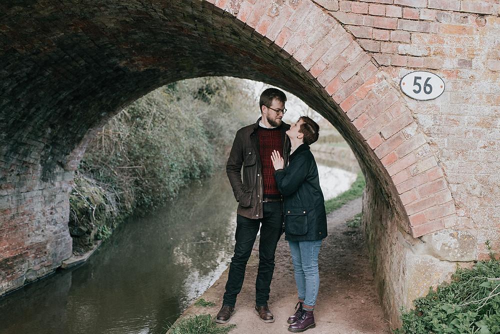 couple photo under bridge