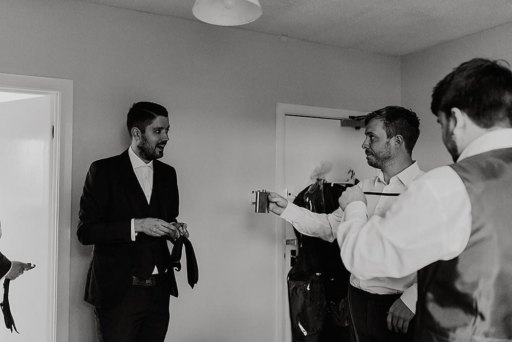 Groomsmen whisky hip flask