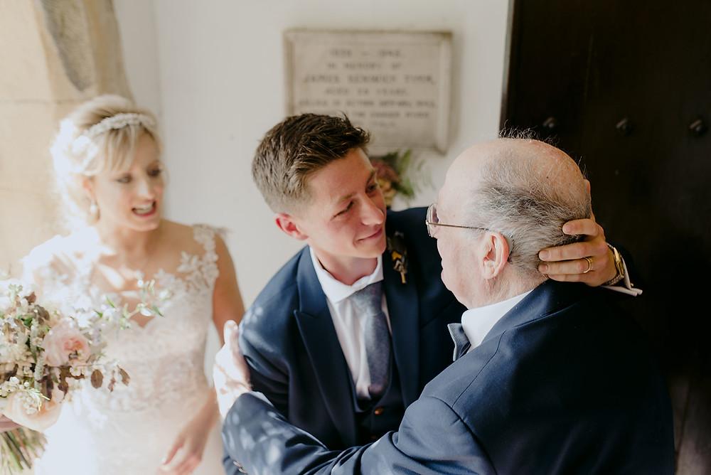 receiving line bride and groom wedding