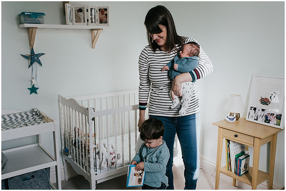 newborn bedroom lifestyle photoshoot