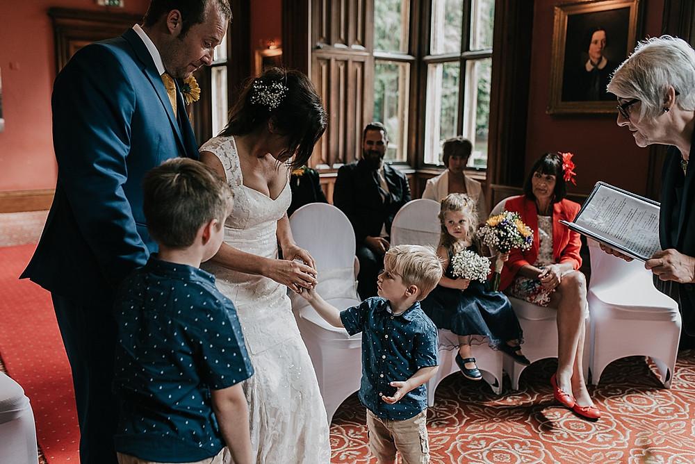 ring bearer intimate wedding