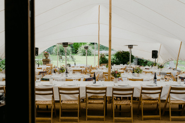 outdoor table setting for wedding scotland