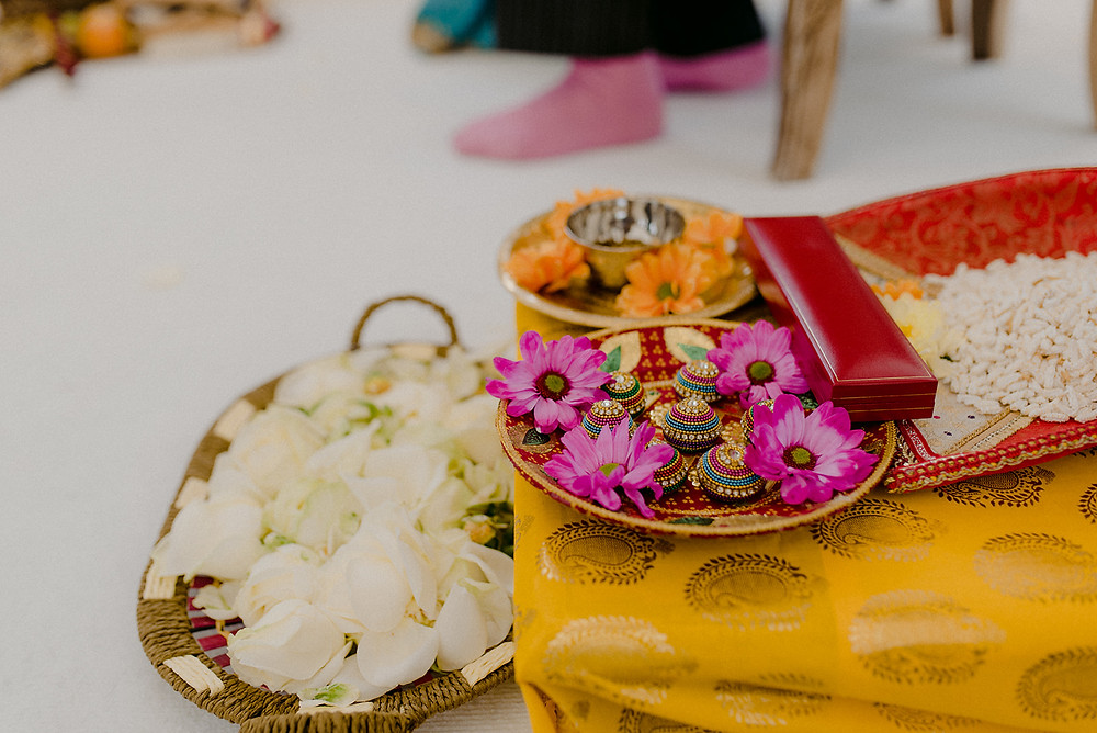 detail shot of indian wedding ceremony