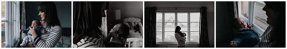mum and newborn documentary photographs