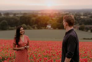 Adventure Couple Shoot with Poppy Field / Oxfordshire Wedding Photographer