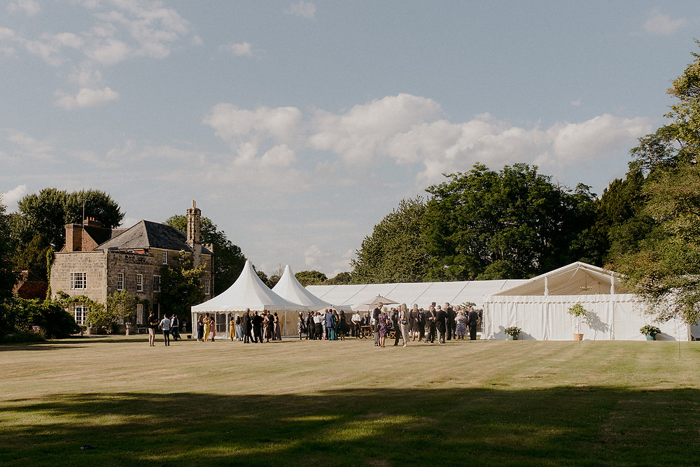 wedding marquee hire in family home garden