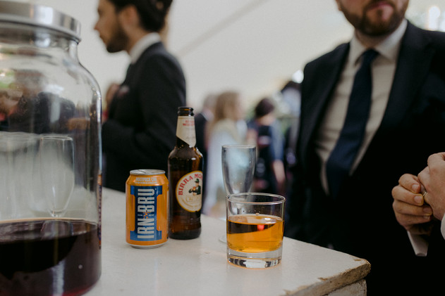 irn bru wedding guests bar