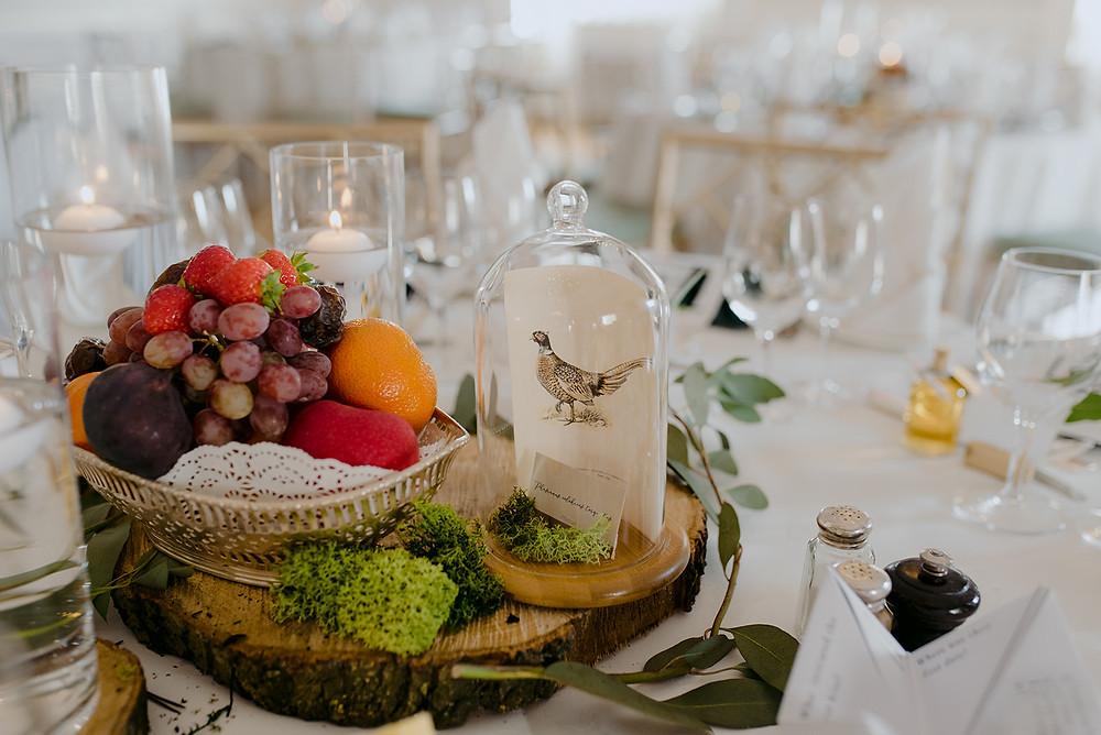fruit bowl wedding breakfast decor centrepiece