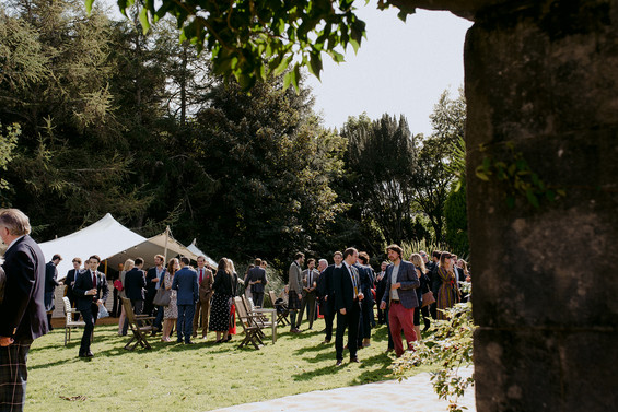 outdoor wedding at balinakill country house