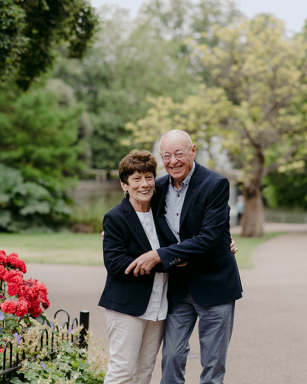 photo of older couple on park