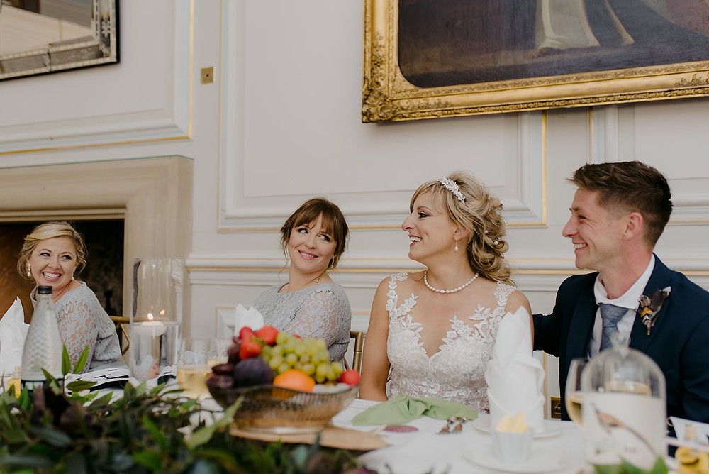 bride and groom top table speeches
