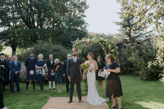 outdoor ceremony scottish garden