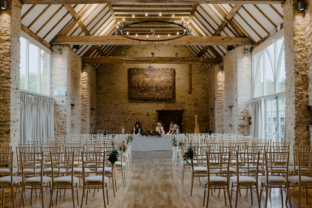 the great barn aynho ceremony space