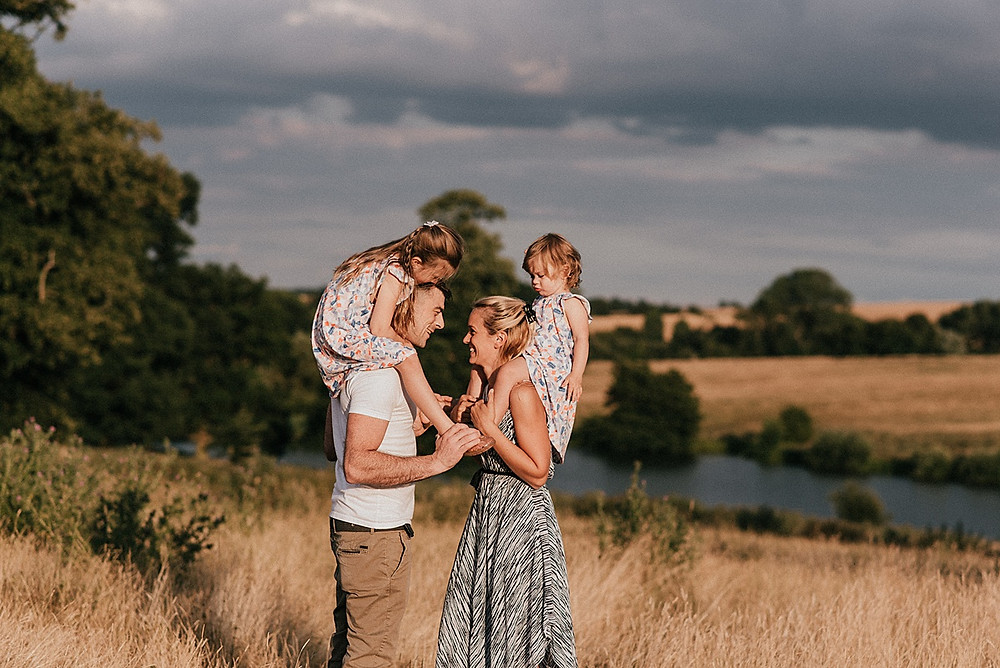 shoulder ride, family photography warwickshire