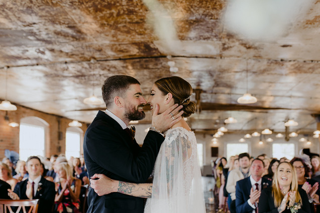 the west mill industrial wedding ceremony