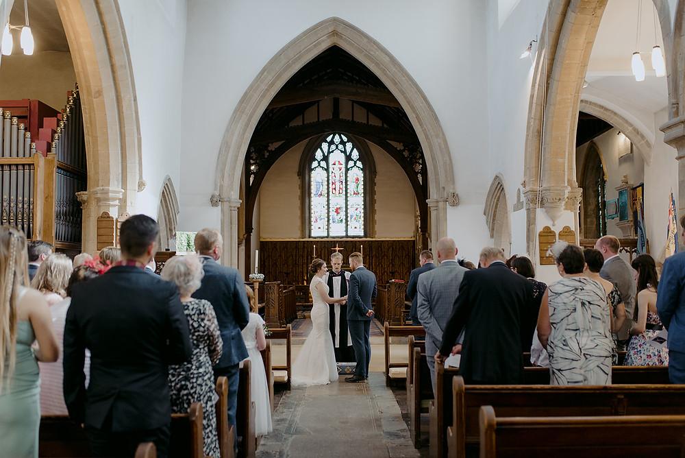 inside st peters church brackley wedding