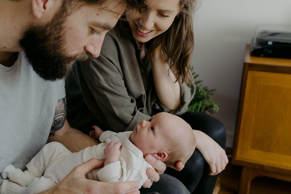documentary newborn photoshoot at home