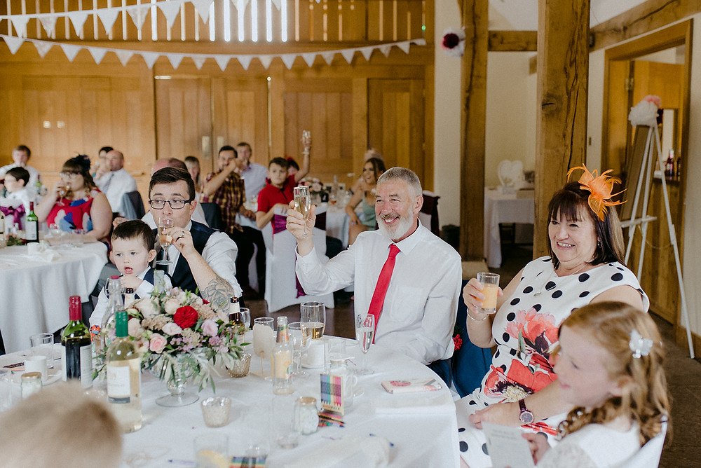 guests cheers at speeches sulgrave manor