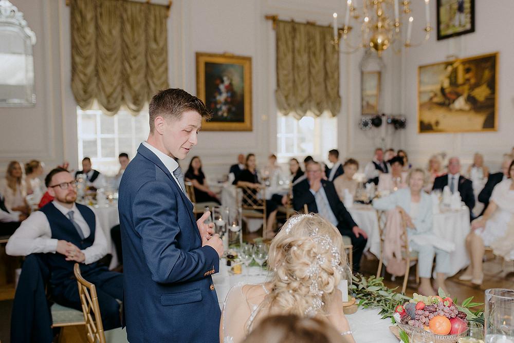 emotional speech by groom at wedding