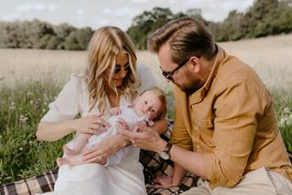 Summer Meadow Outdoor Newborn Photography / Warwickshire Family Photographer
