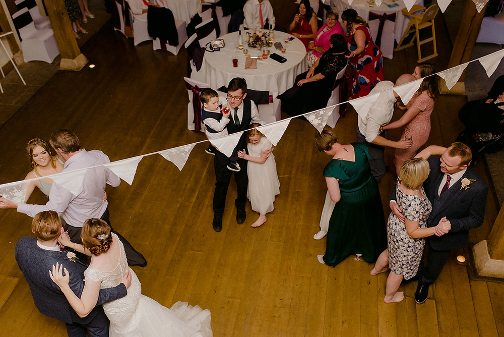 dance floor from above sulgrave manor