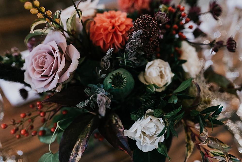 wild texture bouquet wedding autumn