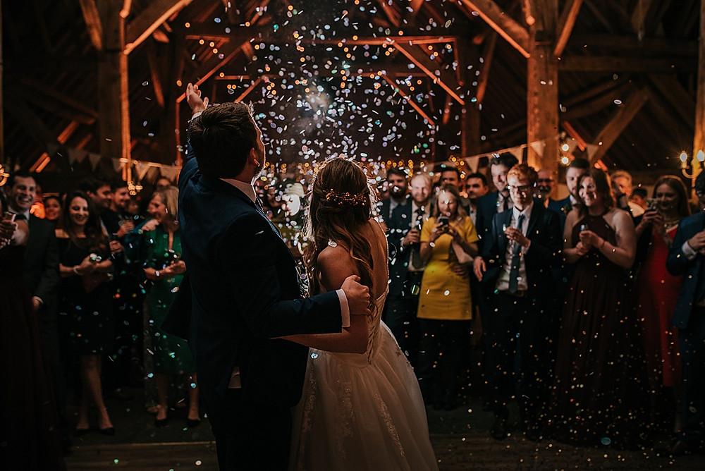 barford park barn wedding first dance