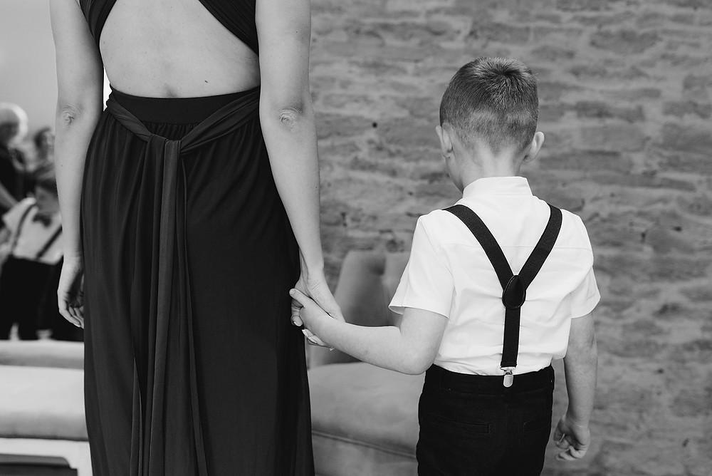 documentary black and white wedding photo