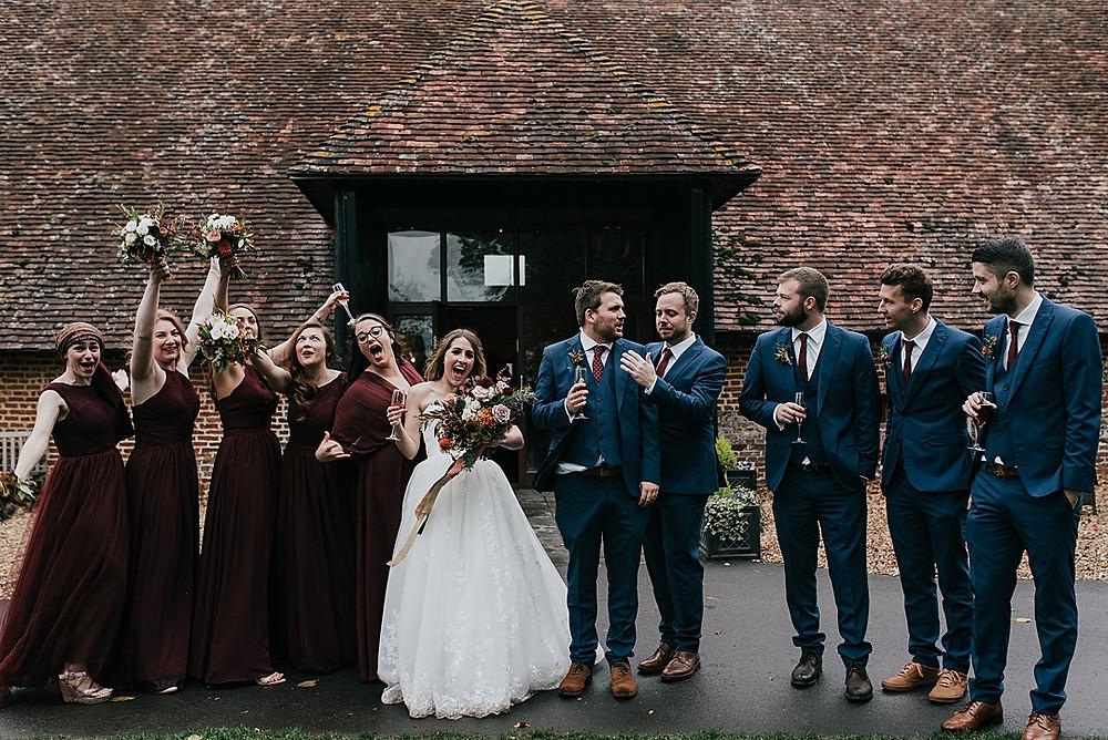 bridesmaids and groomsmen natural