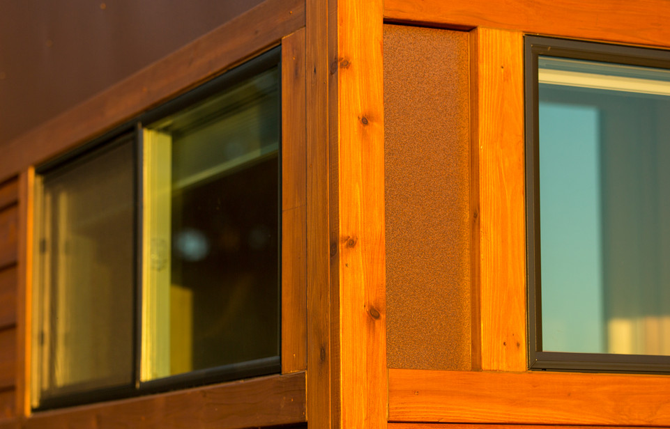Cypress Exterior with Corten Style Metal Accent