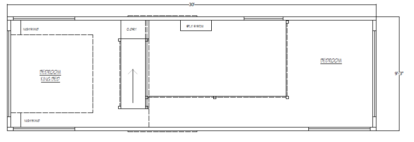 Plan - 2nd Floor with King Bed