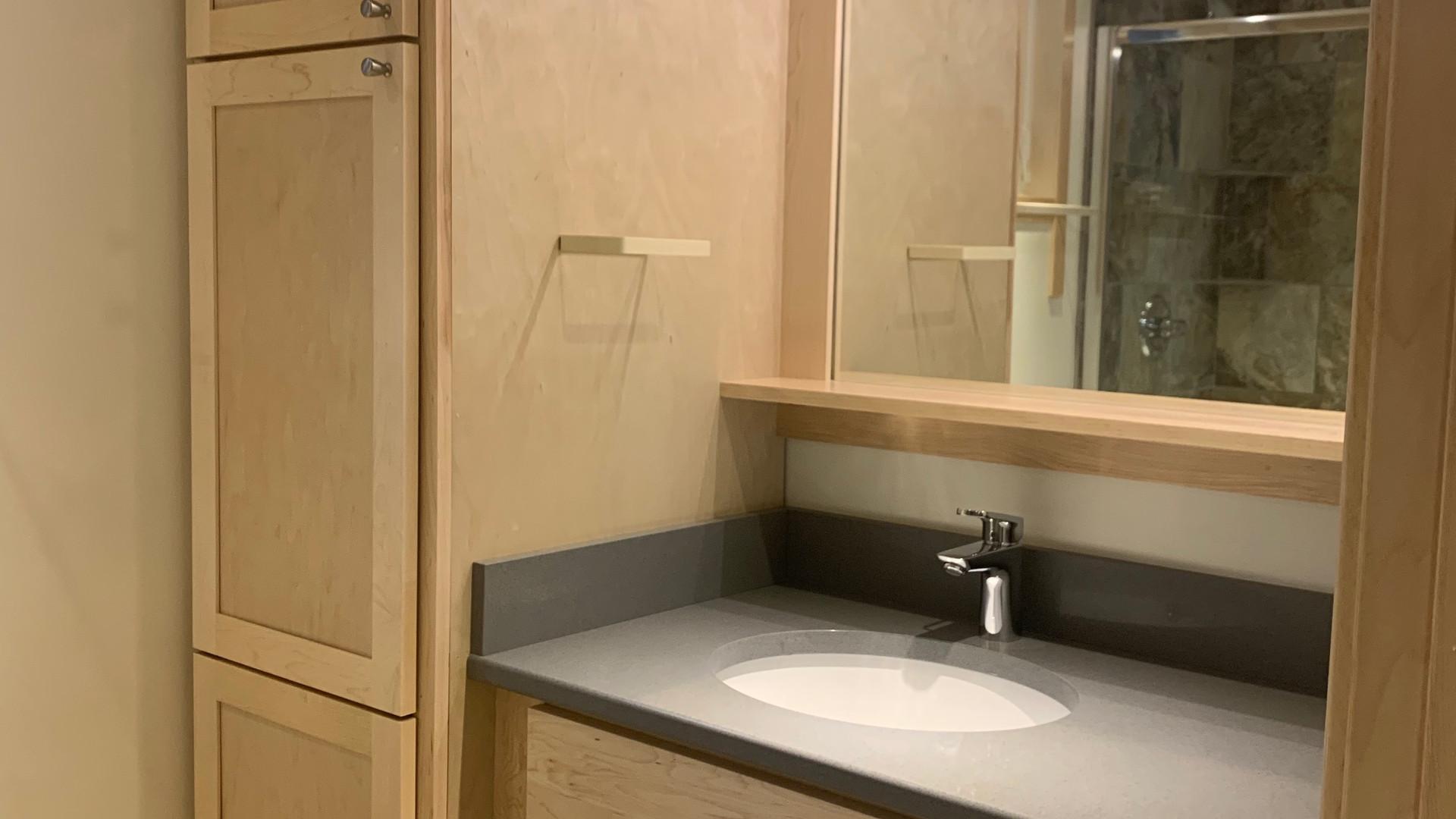 Bathroom Vanity + Mirror
