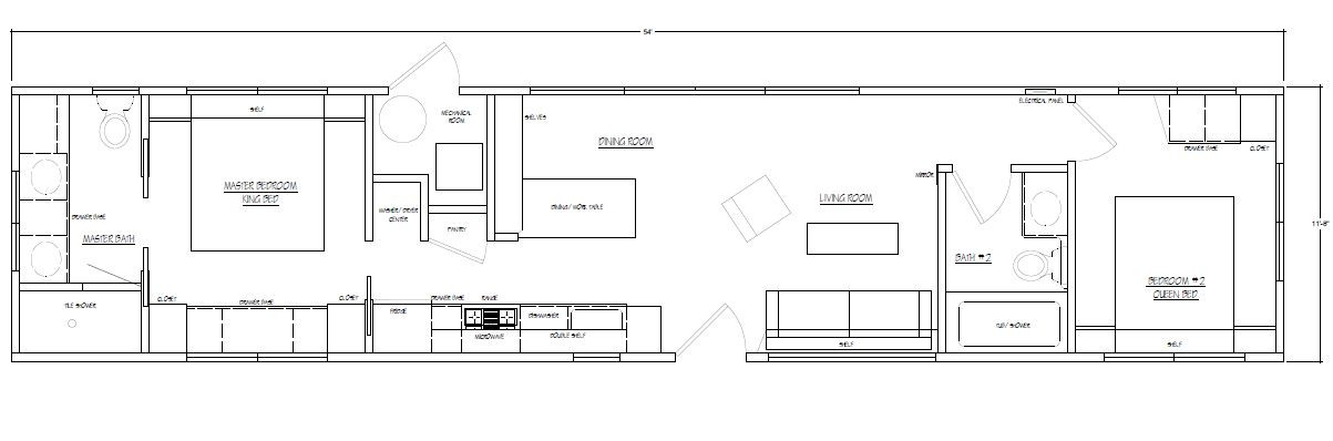 Floor Plan for Mobile Home