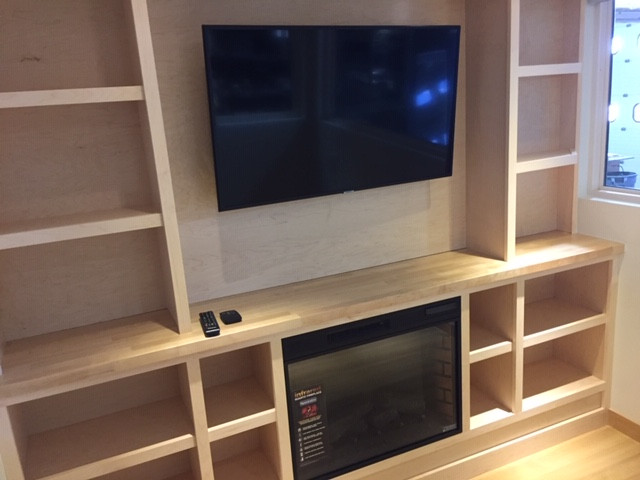 Entertainment Center with Smart TV & Fireplace